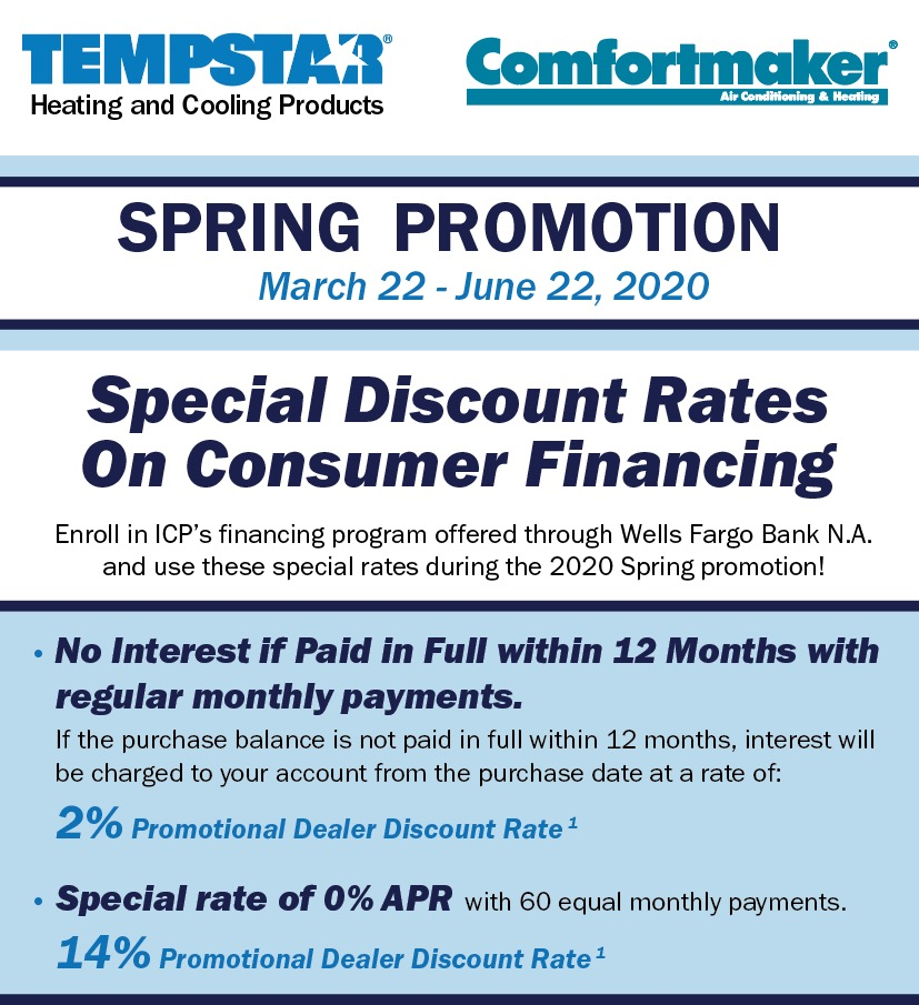 Spring Financing Promotions Corken Steel Products